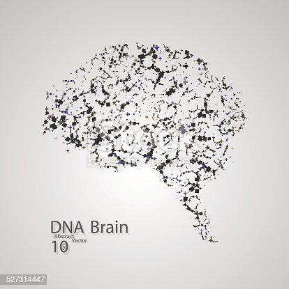 Molecular Structure In The Form Of Brain Stock Vector Art More