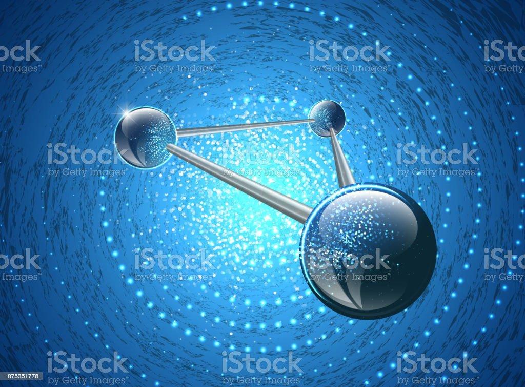 Molecular structure on glowing backgroundƒ vector art illustration