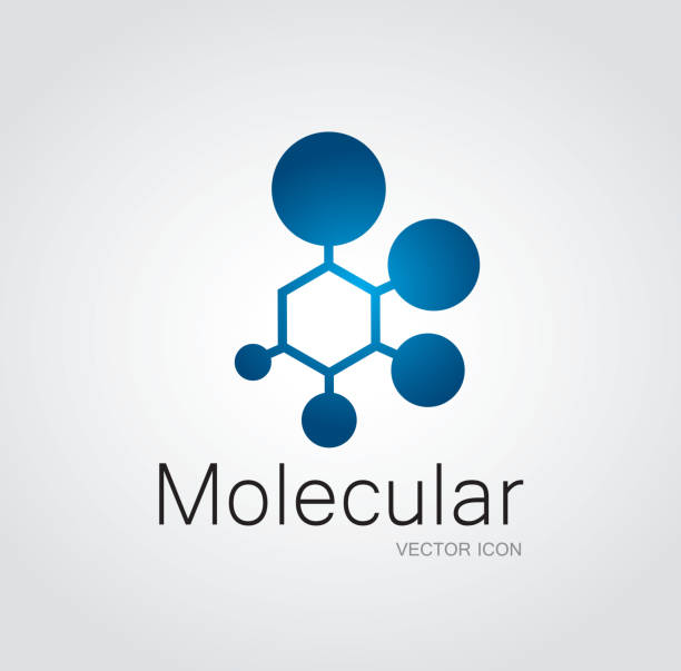 Molecular symbol File format is EPS10.0.  molecular structure stock illustrations