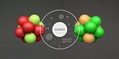 Molecule. 3D concept for science. Vector illustration.