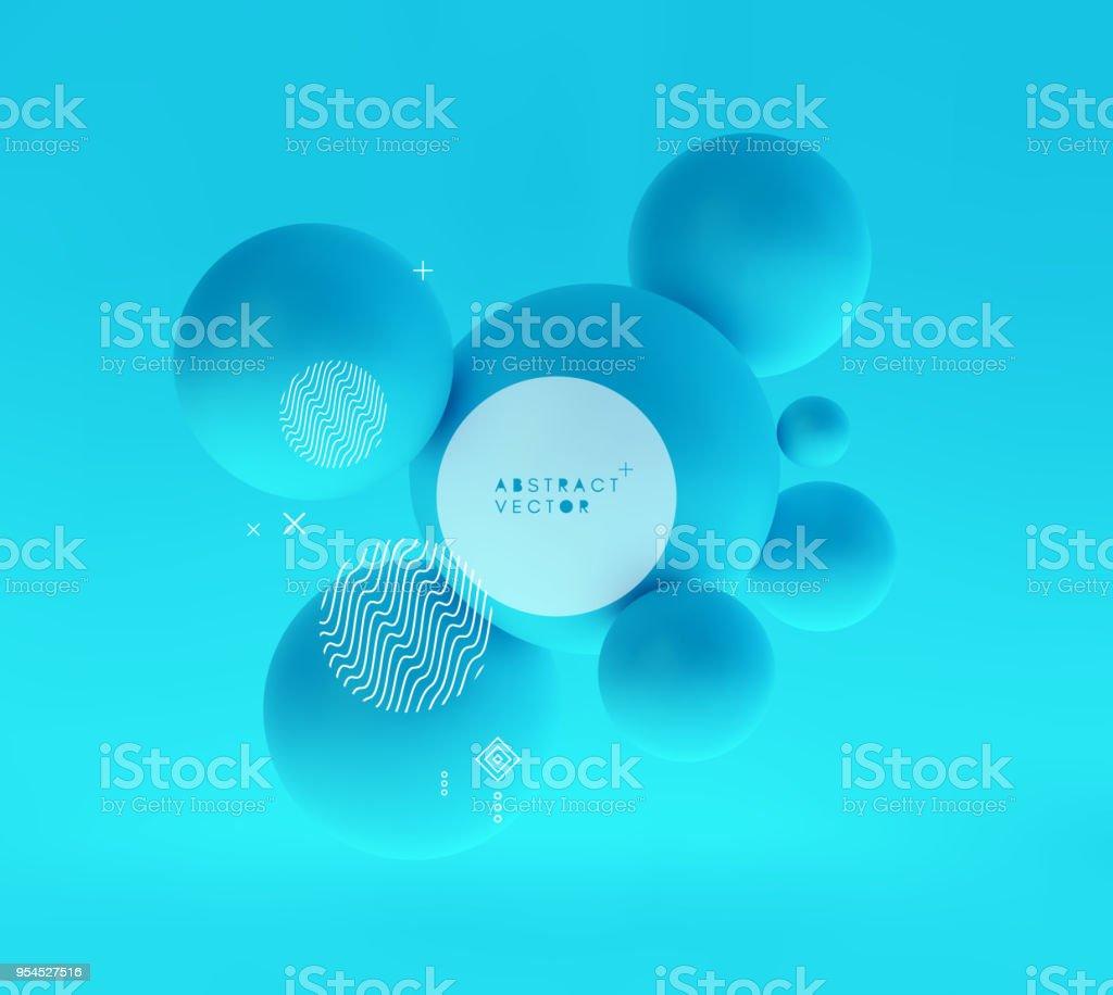 Molecule. 3D concept illustration. Vector template. vector art illustration