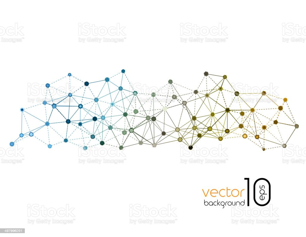 Molecule And Communication Backgroundvectorkunst illustratie