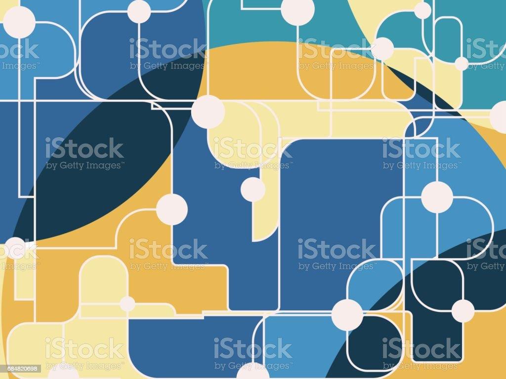 Molécula y el fondo de la comunicación. Ilustración de vector. - ilustración de arte vectorial