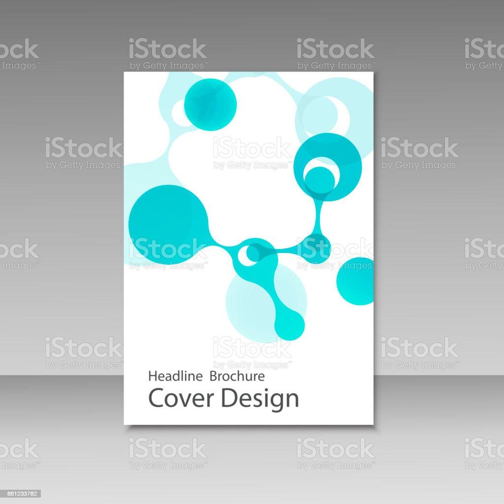 Molecule design brochure template. Science vector background vector art illustration