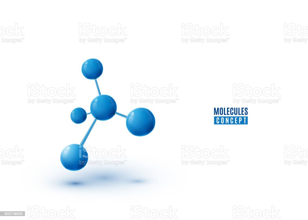 Molecule design isolated on white background. Atoms. 3d molecular structure royalty-free molecule design isolated on white background atoms 3d molecular structure stock illustration - download image now