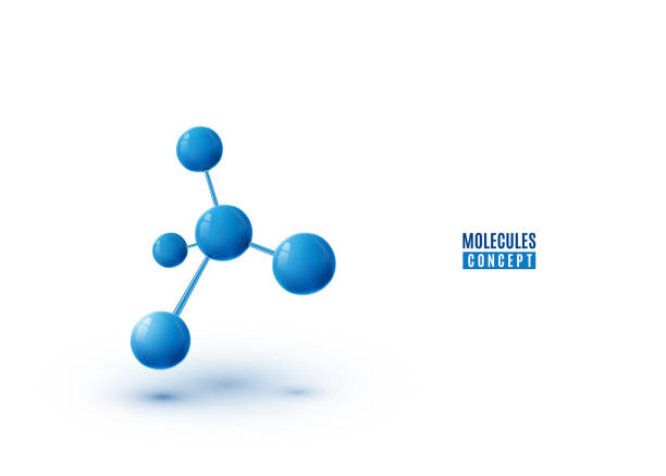 molecule design isolated on white background. atoms. 3d molecular structure - cząsteczka stock illustrations