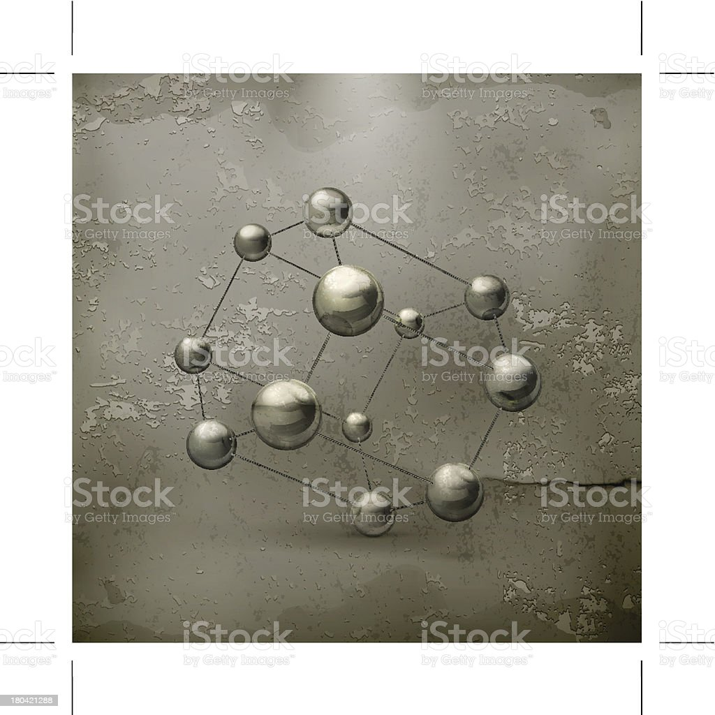 Molecule icon old style royalty-free stock vector art