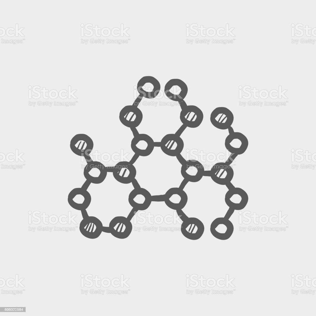 Molecule sketch hand drawn doodle icon vector art illustration