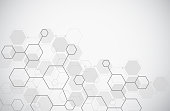istock Molecule structure abstract tech background. Medical design. Science template, wallpaper or banner. Vector illustration 1076938722