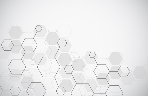Molecule structure abstract tech background. Medical design. Science template, wallpaper or banner. Vector illustration