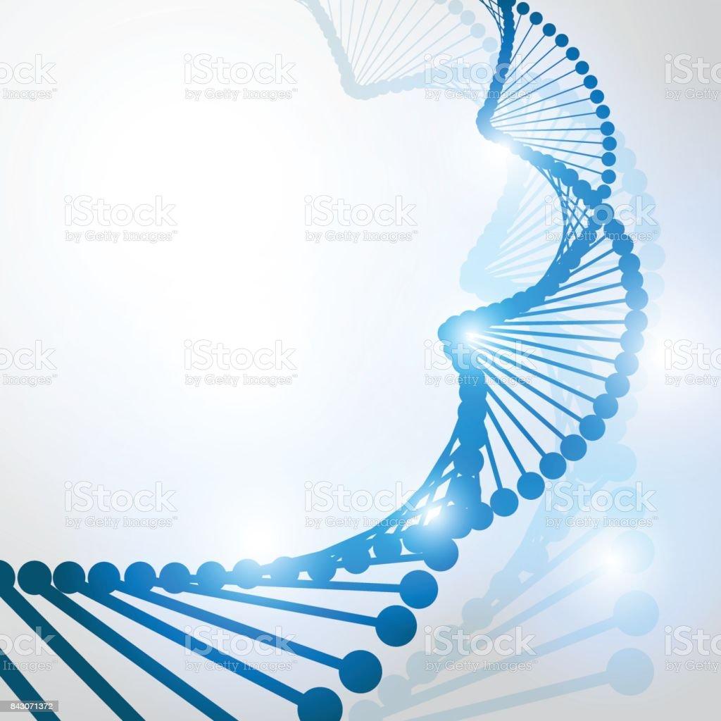 Ilustración De Fondo De Estructura De La Molécula Adn Forma