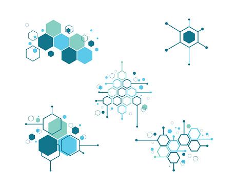 Molecule symbol   template vector illustration design