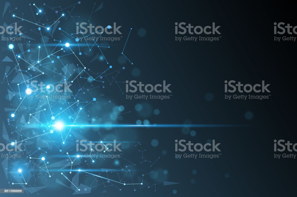Molecule technology background royalty-free molecule technology background stock illustration - download image now