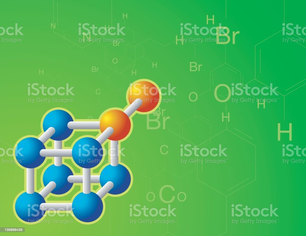 molecule royalty-free stock vector art