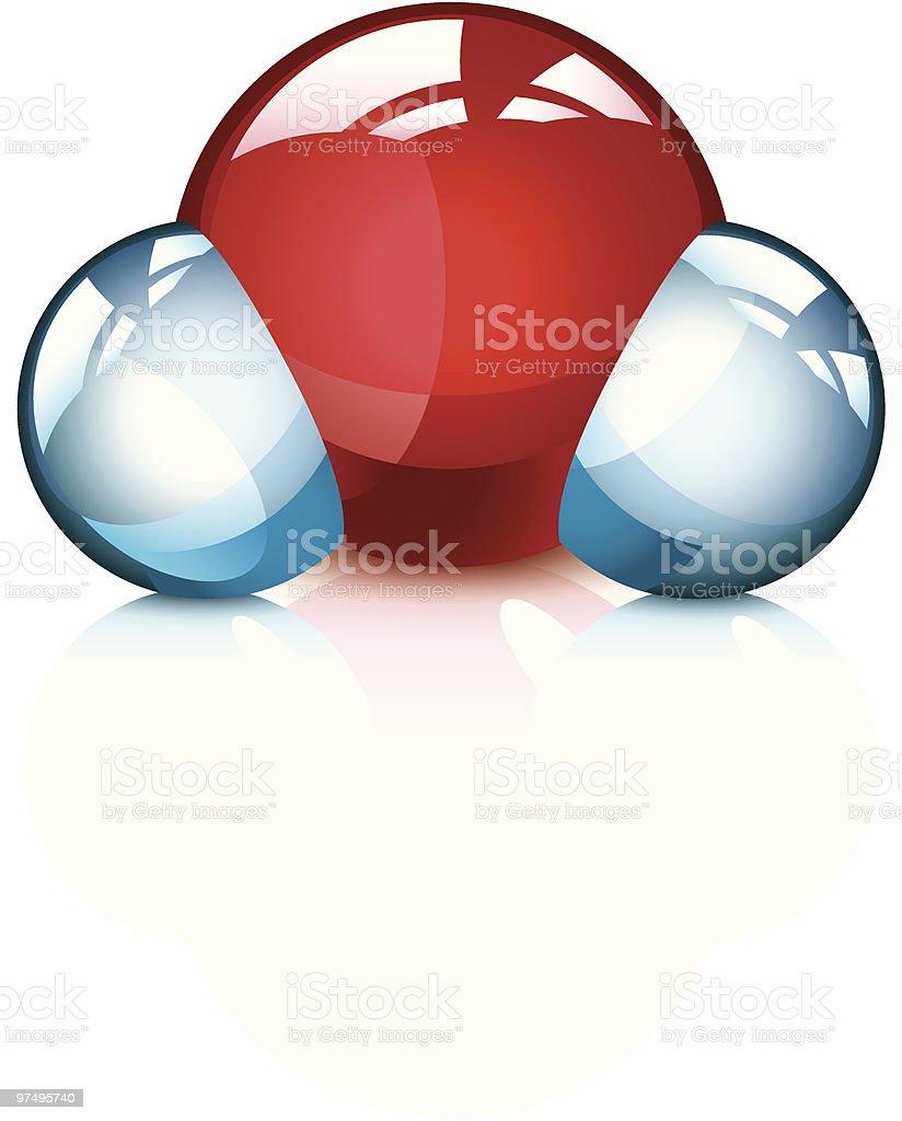 H2O molecule royalty-free h2o molecule stock vector art & more images of atom