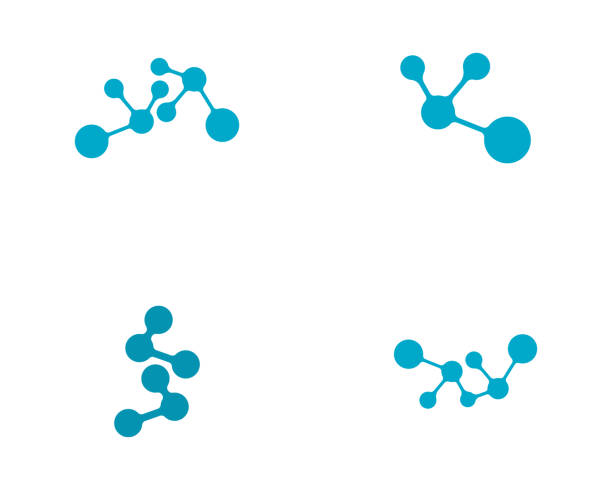 Molecule vector illustration design Molecule symbol logo template vector illustration design molecule stock illustrations
