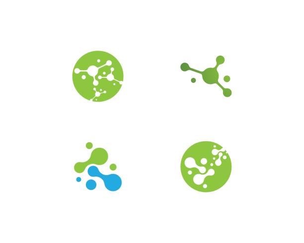 molecule vector molecule vector icon template atom stock illustrations