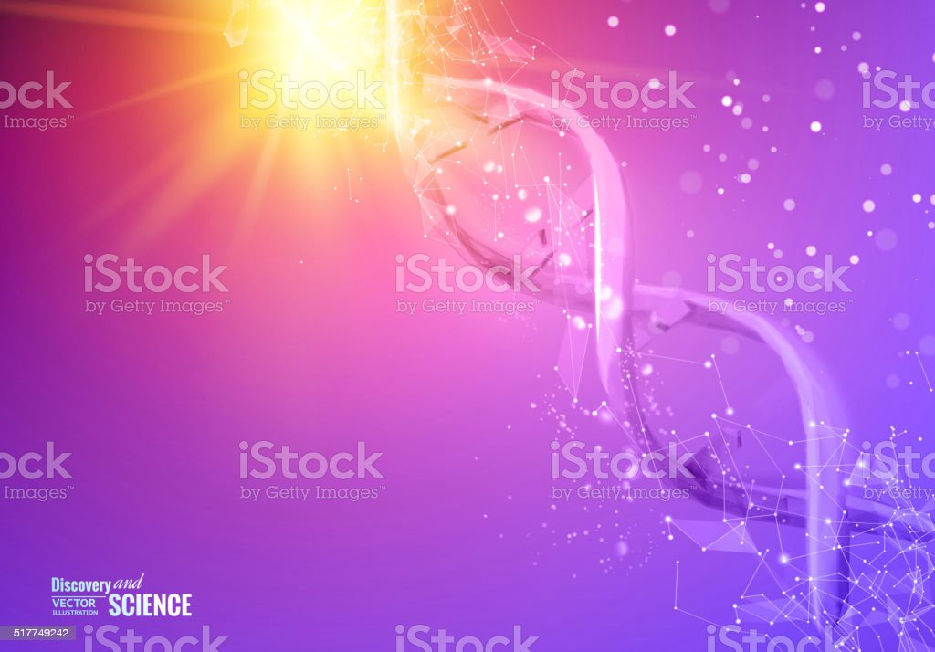 DNA molecules of poligons vector art illustration