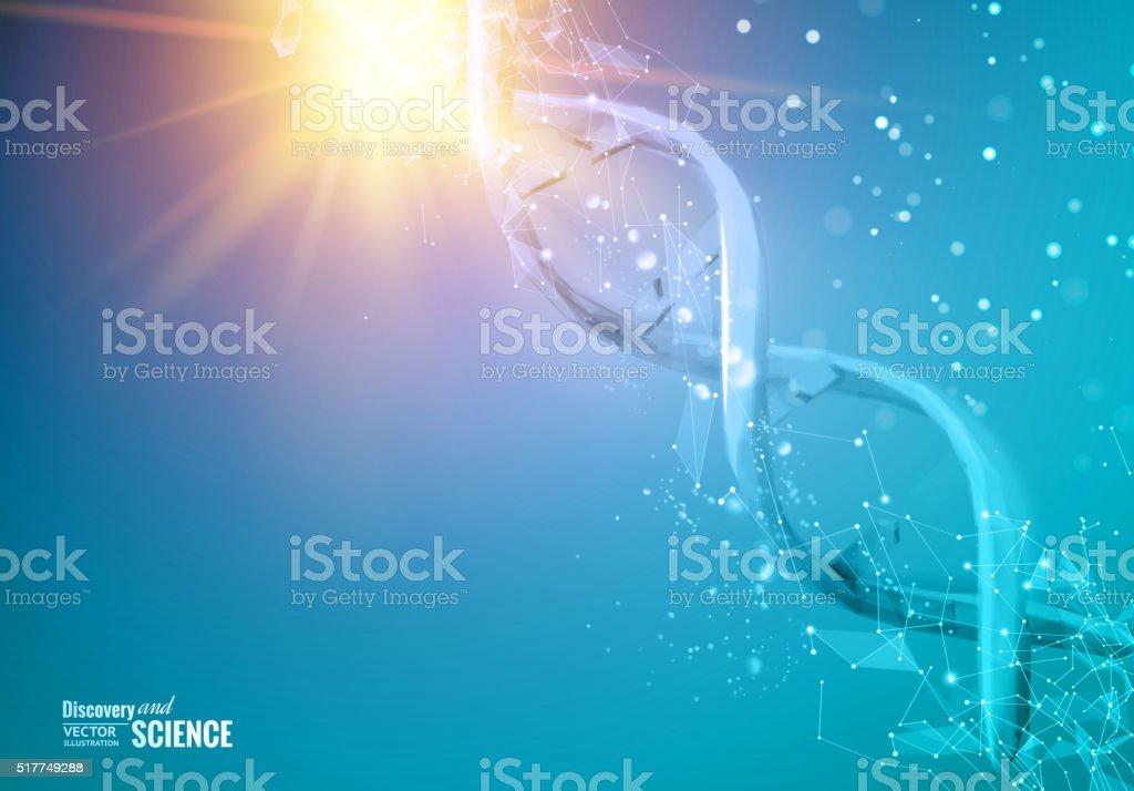DNA molecules of poligons vector art illustration