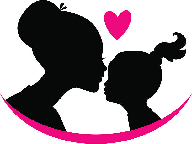 Mom and daughter love Vector illustration of Mom and daughter love daughter stock illustrations