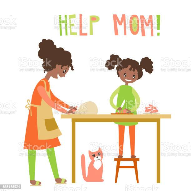 Mom and dauhter cooking together home help upbringing vector vector id868168924?b=1&k=6&m=868168924&s=612x612&h=z7sty3qmag kctzjanixpj6patzz3aa1o0zbnclrk w=