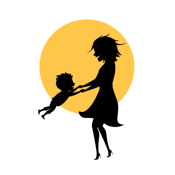 Best Mom Son Toons Illustrations, Royalty-Free Vector