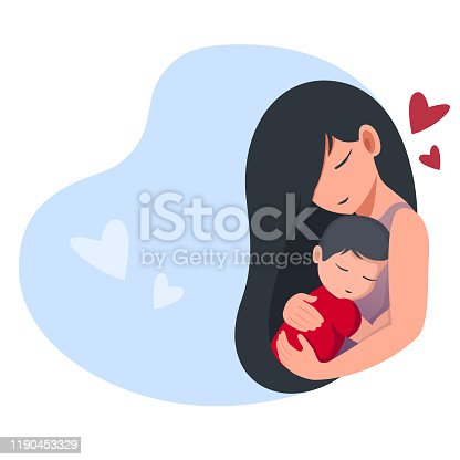 istock Mom holds a sleeping baby 1190453329