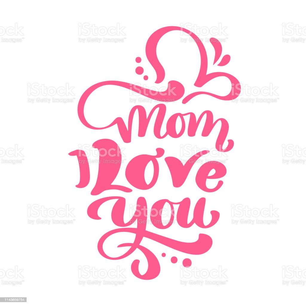 Maman Je Taime Texte Pour La Fête Des Mères Heureux Vecteur