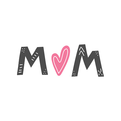 Mom lettering card.