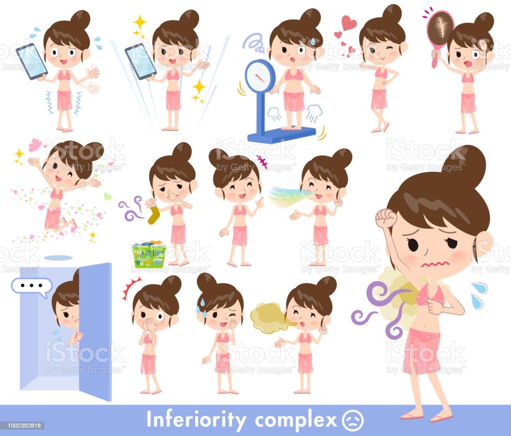 mom Swimwear style_complex vector art illustration