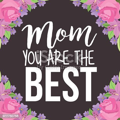 istock mom the best borders floral ornament brown background 922750758