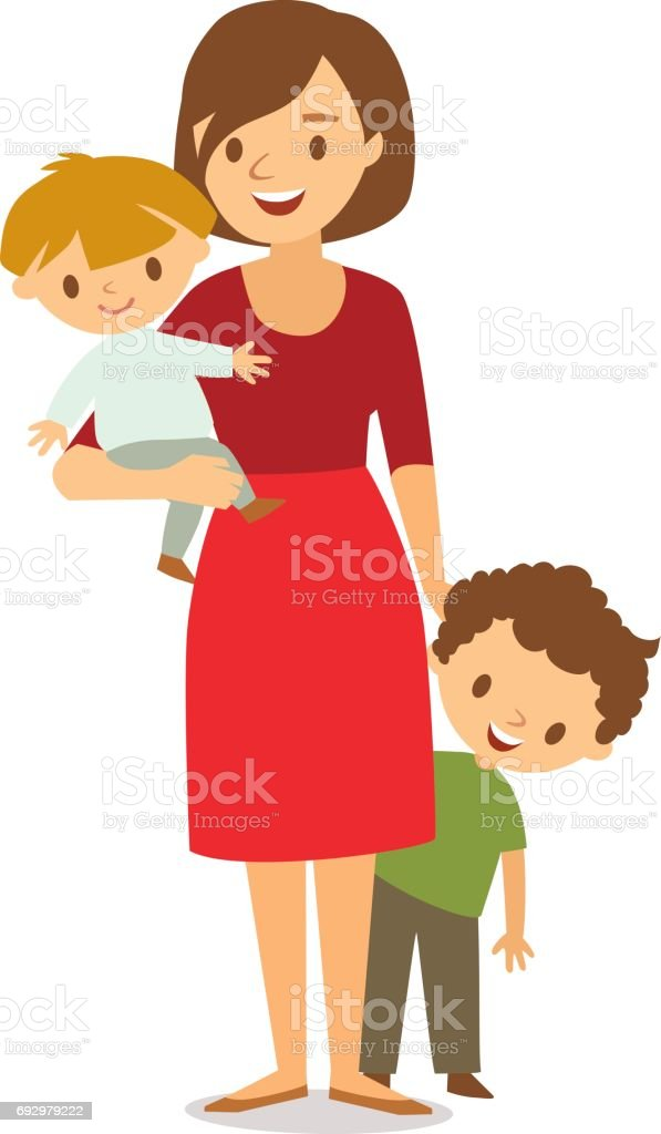 Mom with two babies vector white background stock vector art more mom with two babies vector white background royalty free mom with two babies vector white voltagebd Choice Image