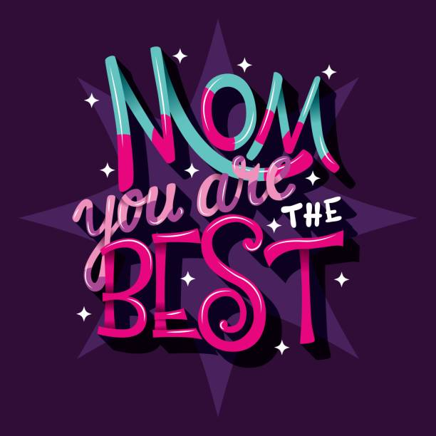 Mom you are the best, Happy Mother's Day, hand lettering typography modern poster design, vector illustration vector art illustration