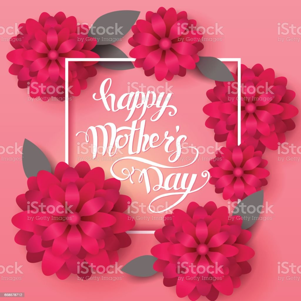 Moms day greeting poster design happy mothers day vector card with moms day greeting poster design happy mothers day vector card with hand writting lettering kristyandbryce Image collections