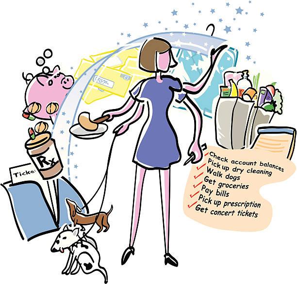 mama's day - arbeitshunde stock-grafiken, -clipart, -cartoons und -symbole