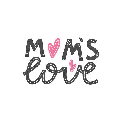 Mom's love lettering card.