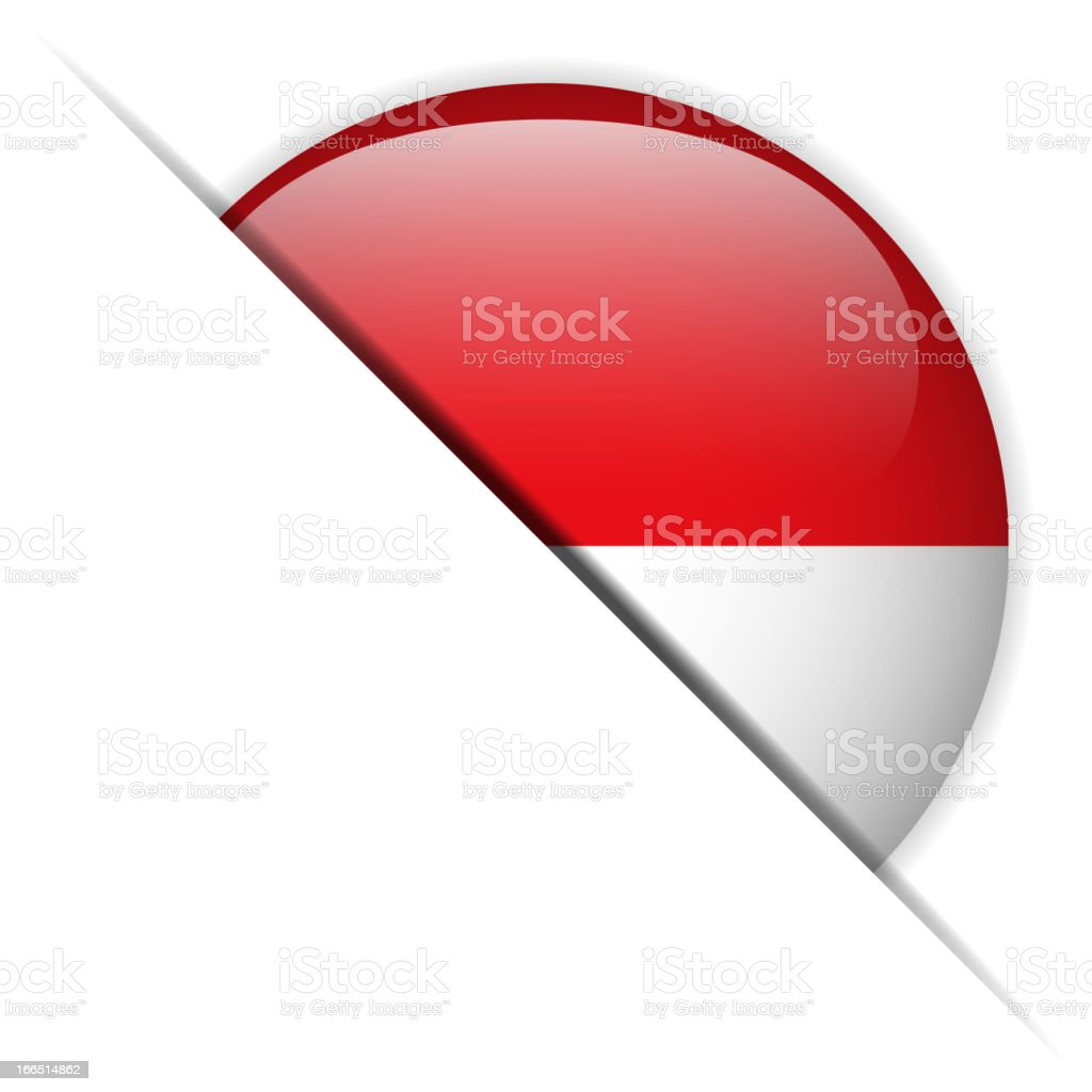 Monaco Flag Glossy Button Hidden royalty-free stock vector art