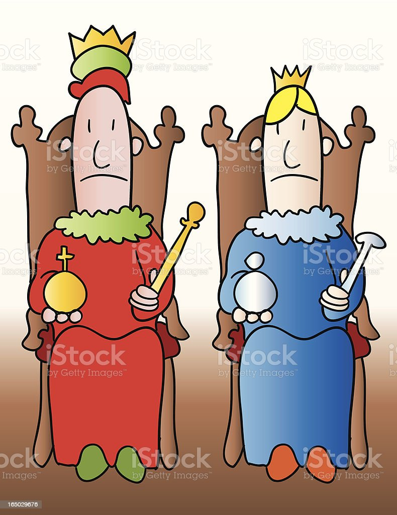 Monarchy royalty-free stock vector art