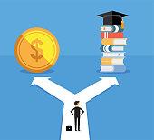 choice, way, education, money, decesion