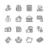 16 Money and Finance Outline Icons.
