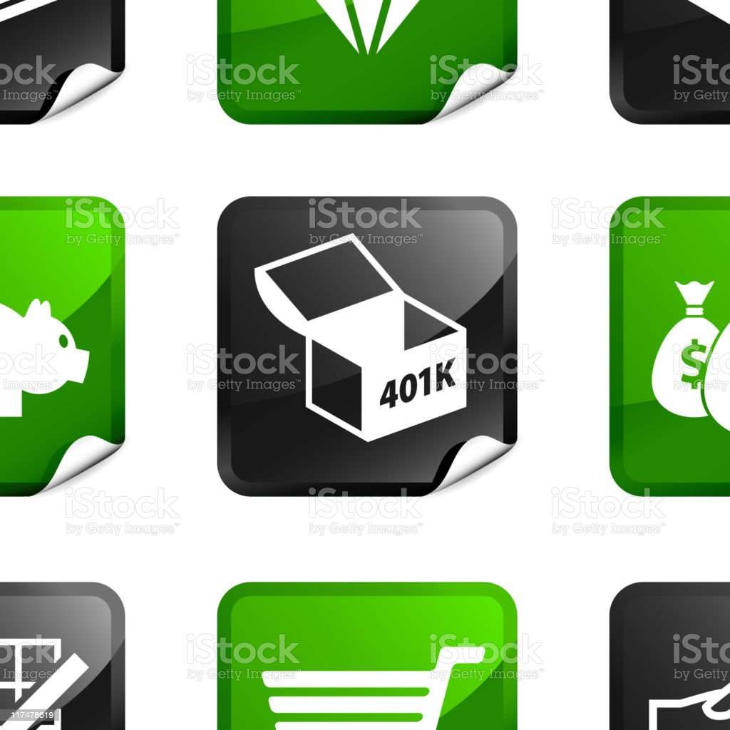 money and finance nine royalty free vector icon set vector art illustration