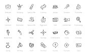 Money and finance bundle. Set of icons. Drawn by hand collection. Line style hand drawn sketched.