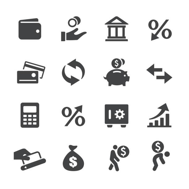 Money and Loan Icons - Acme Series vector art illustration
