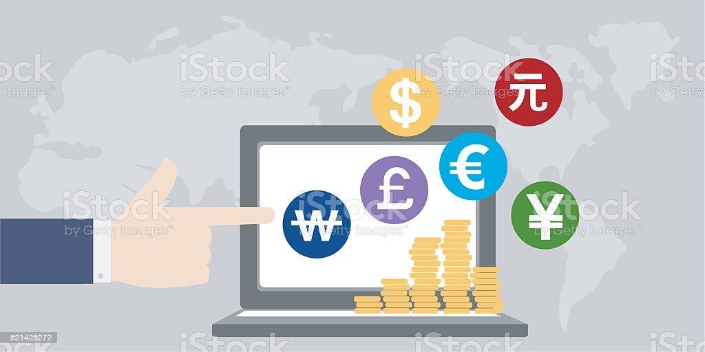 money around the world,finance business vector art illustration