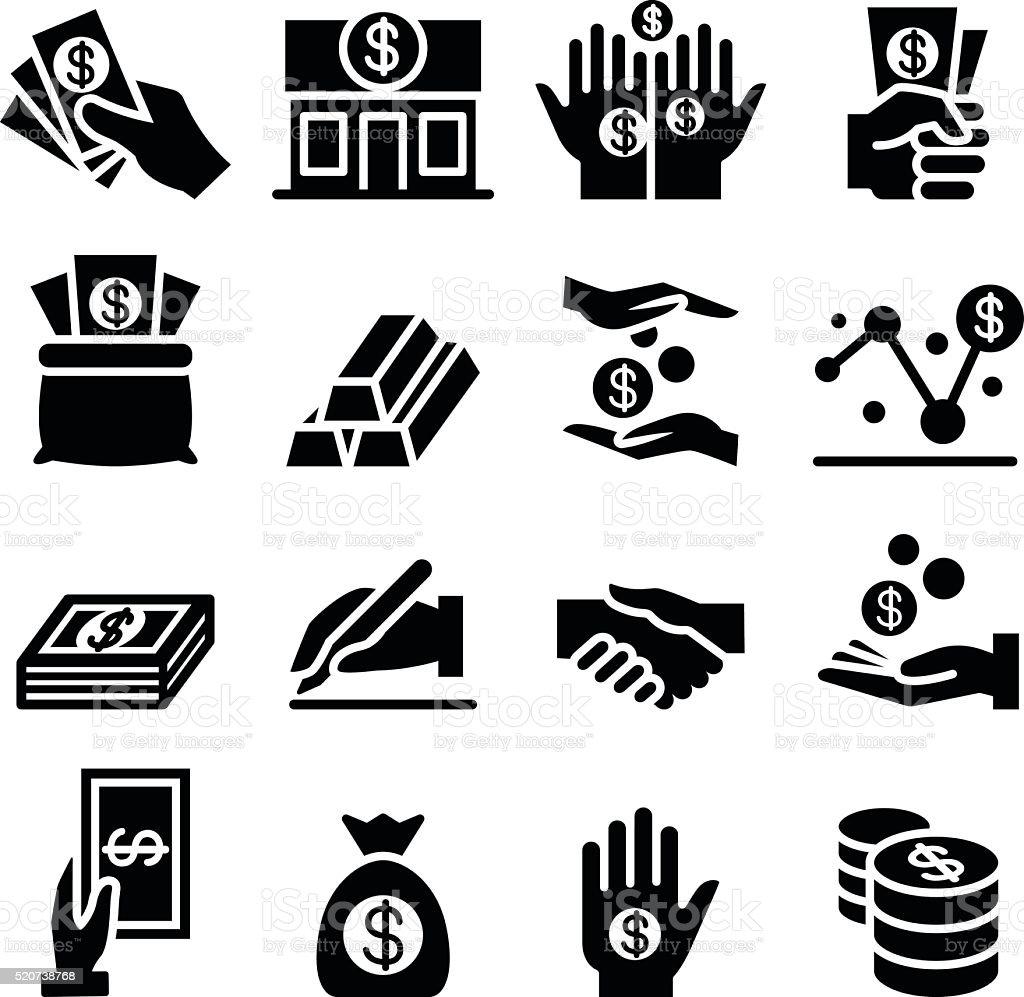 Money & Asset icon vector art illustration