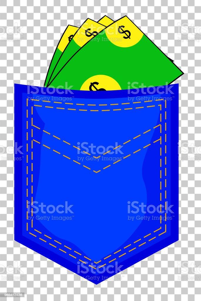 Money At Back Pocket at transparent effect background money at back pocket at transparent effect background - stockowe grafiki wektorowe i więcej obrazów bankowość royalty-free