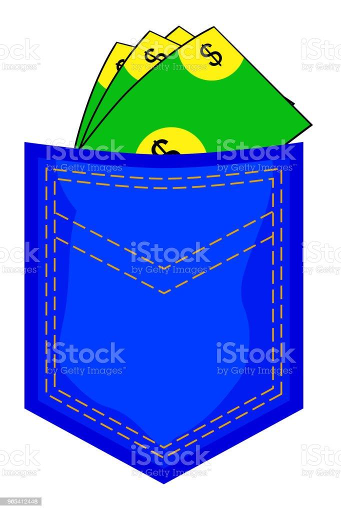 Money At Back Pocket royalty-free money at back pocket stock vector art & more images of advertisement