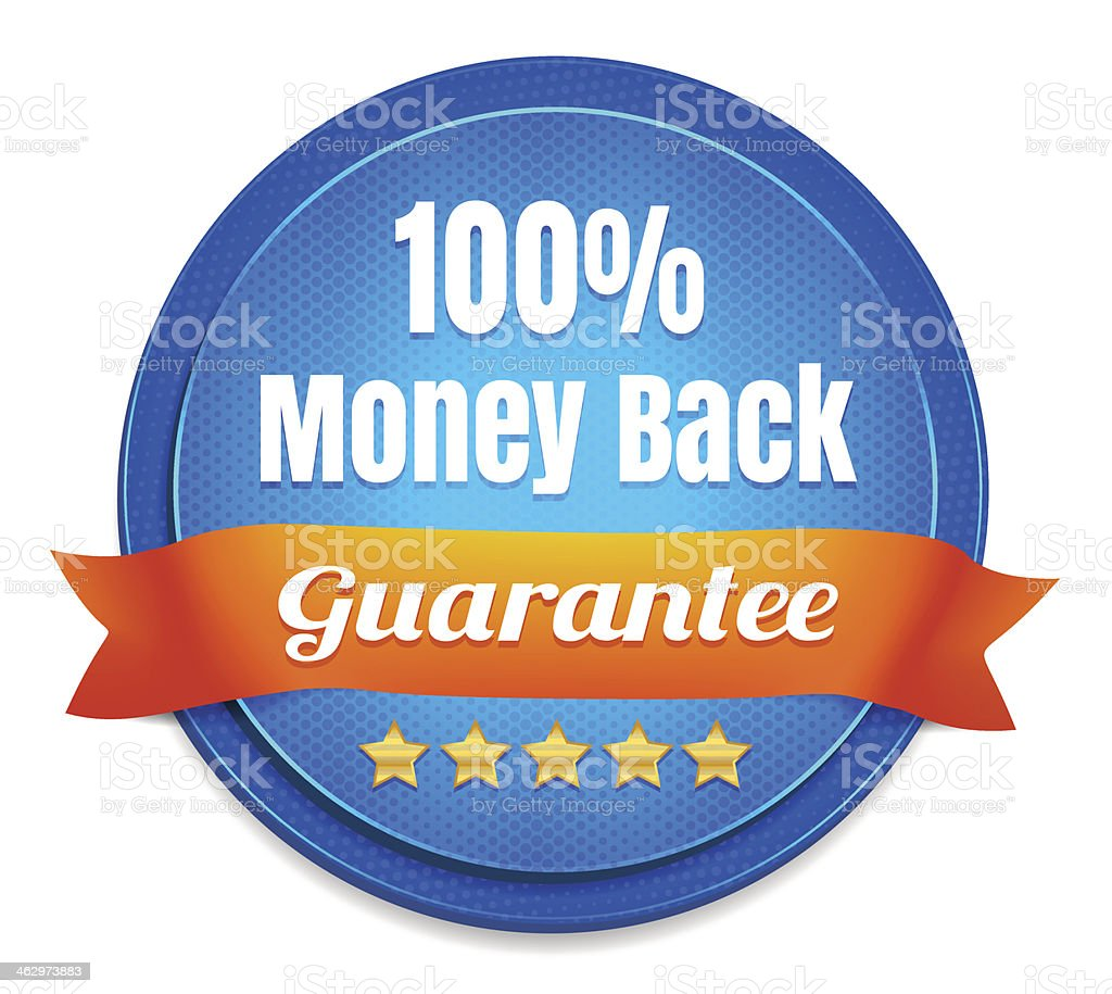 Money Back Guarantee Badge vector art illustration