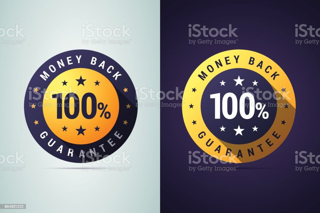 Money back guarantee badge. vector art illustration