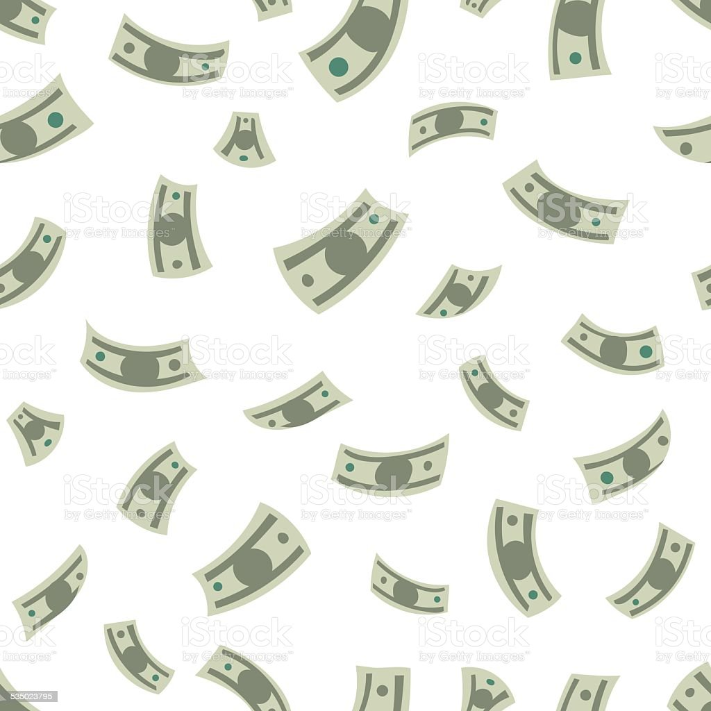 Money background vector art illustration